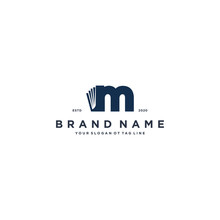 Letter M And Book Logo Design Vector
