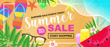 Summer Sale Concept With Fruit...