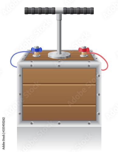 detonating fuse vector illustration Fototapet