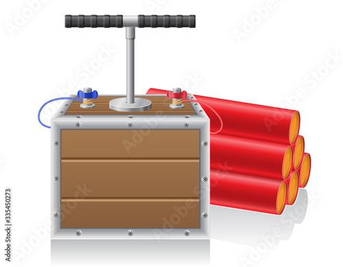 Fotografie, Tablou detonating fuse and dynanite vector illustration
