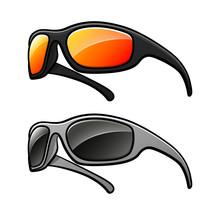 Vector Sunglasses Isolated Dra...