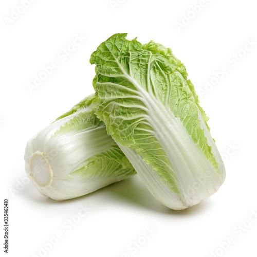 Slika na platnu Chinese cabbage on white background