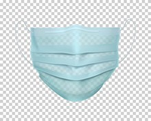 Protective Medical Face Mask. Personal Safety And Health Care Equipment Vector Illustration. Realistic Respirators And Surgical Mask. Disposable Device For Coronavirus Protection And Self Prevention.