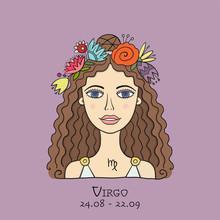 Illustration Of Virgo Zodiac S...