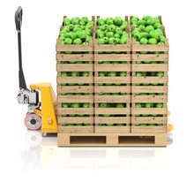 Green Apples In Wooden Crates ...