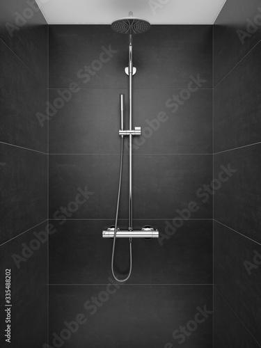 Papel de parede SHower in modern shower room, Modern design of bathroom