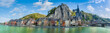 canvas print picture - A Beautiful Panoramic View Of The City Of Dinant In Belgium. The Name Dinant Comes From The Celtic Divo Nanto, Meaning The Sacred Valley