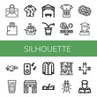 Set of silhouette icons