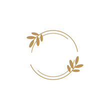 Vector Floral  Logo Template I...