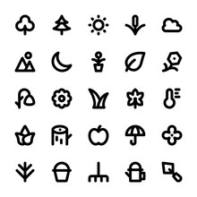 Nature And Ecology Line Icons 1