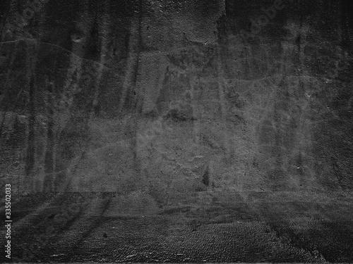 Obraz Old black background. Grunge texture. Dark wallpaper. Blackboard Chalkboard Concrete - fototapety do salonu