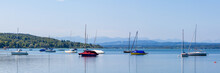 Panorama View Of Lake Ammersee...