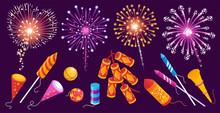 Firework Festive Isometric Set