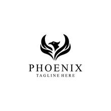 Phoenix Bird Abstract Luxury Logo - Vector Logo Template