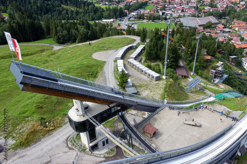 Fotomural View from the Ski jumping stadium