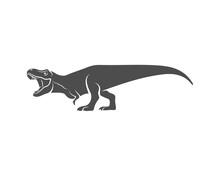 T Rex Logo Design Template. Ve...