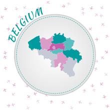 Belgium Map Design. Map Of The...