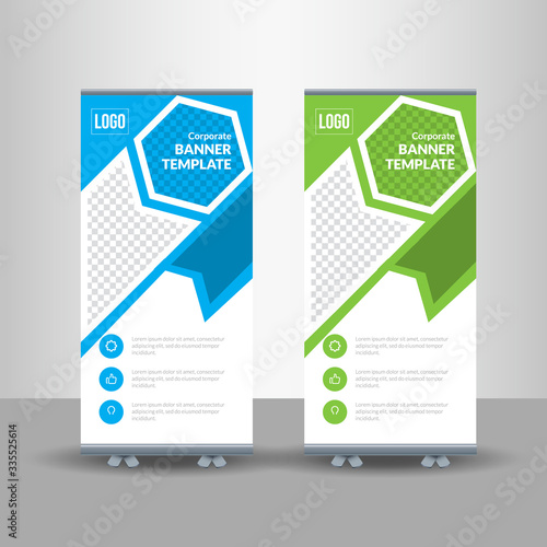 Roll-up for exhibitions, banner for seminar, layout for placement of photos Tablou Canvas