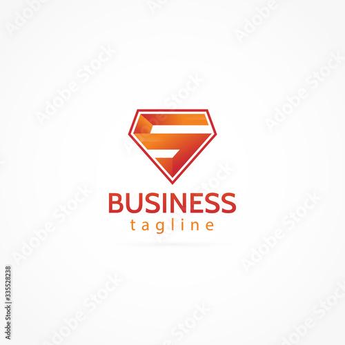Fotografie, Tablou letter S logo icon