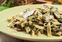 Tagliatelle Pasta With Spinach...