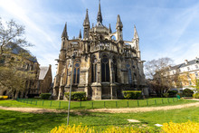 Wide Angle View At Cathedral Notre Dame In Reims