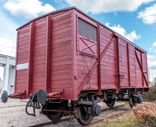 Old Train Carriage On Rails, R...