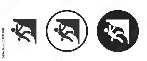 Fototapeta climbing icon . web icon set .vector illustration obraz