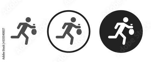 Thief icon . web icon set .vector illustration Fototapet