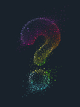 Question Mark Rainbow Pointillism Illustration