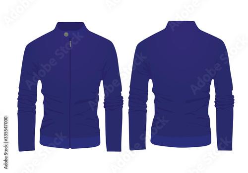 Fototapeta Blue spring jacket. vector illustration
