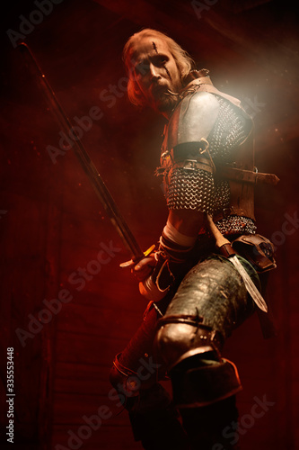 Obraz fantasy medieval warrior - fototapety do salonu