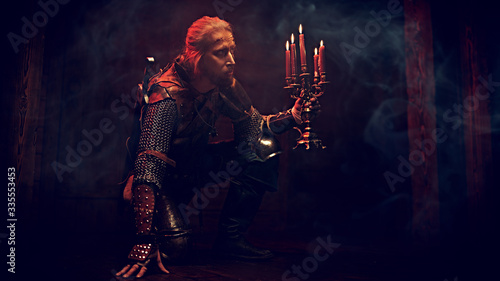 Photo warrior with candles