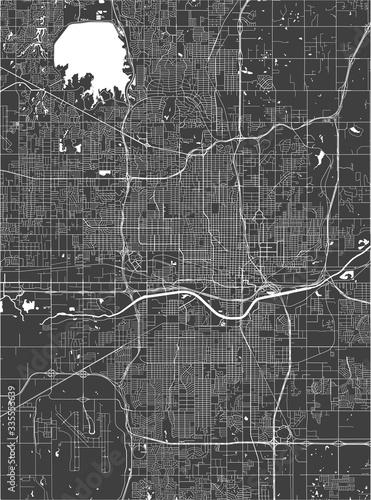 Photo map of the city of Oklahoma, Oklahoma City, USA