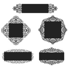 Wrought Iron Frames, Plates. L...