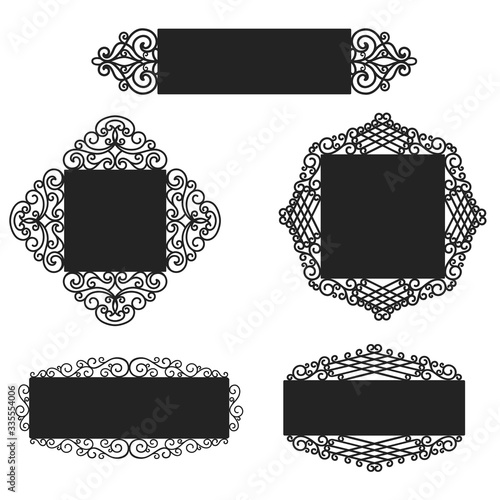 Photo Wrought Iron frames, plates. Laser cut