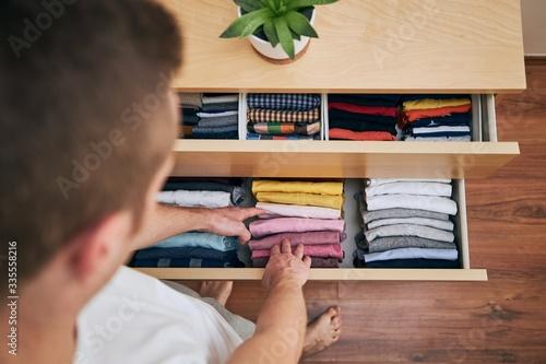 Fototapeta Organizing and cleaning home obraz