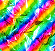 canvas print picture - Rainbow metallic foil.