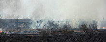 Fire On Abandoned Farm, Panora...