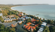 Koh Rong From Above, Sok San Village, Cambodia