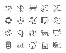 Set Of Air Condition Icons, Ai...