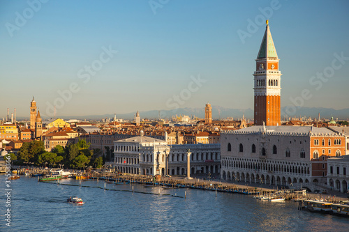 Fototapeta Doge's Palace and campanile of St. Mark's in Venice, Italy