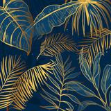 Golden Leaves Print Art - 335586266
