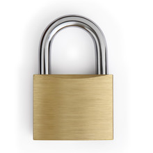 Padlock Isolated On White Background, Lockdown Concept