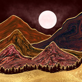 Liquid Mountain Illustration - 335589464