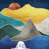 Gold Mountain Flat Illustration - 335590654