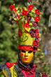 Leinwanddruck Bild - Beautiful and colourful costume and mask at the Venice Carnival in Annecy by day, France