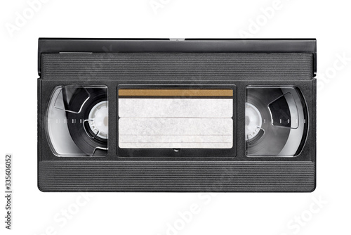 Papel de parede VHS video tape cassette isolated on white