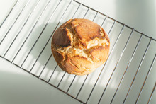 Directly Above View Of Fresh Homemade Artisan Bread