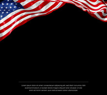 Black Template With American Flag On The Top
