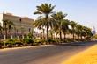 Contemporary buildings at main road in Khartoum, Sudan